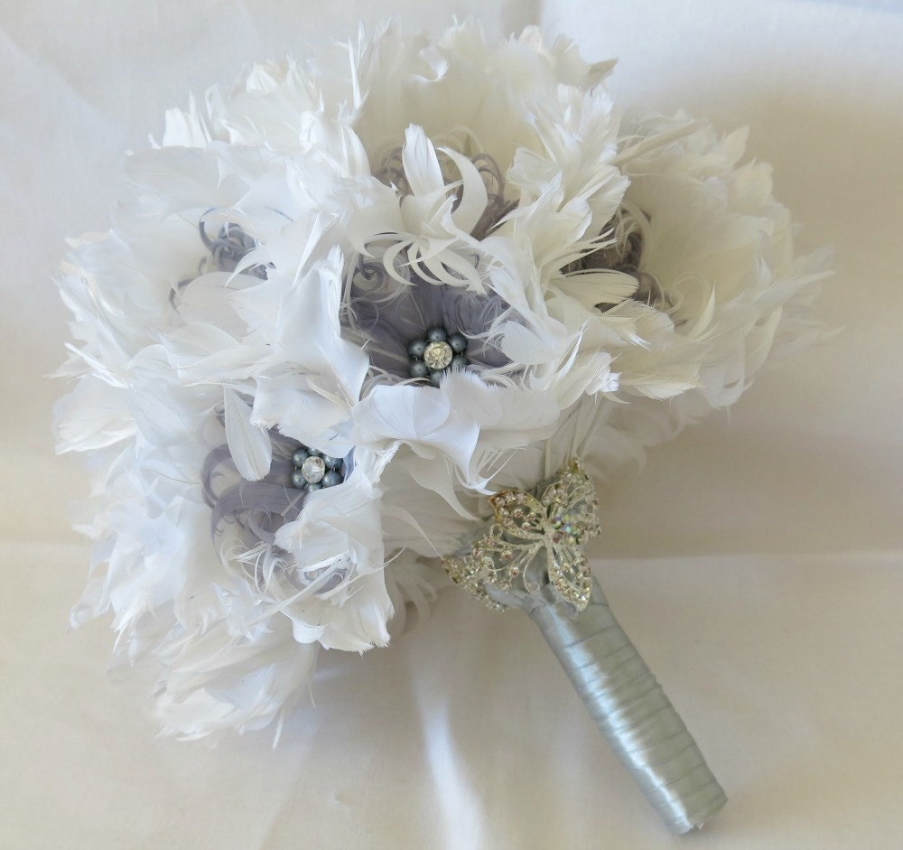 Heirlooms Bridal: Wedding Heirloom Bouquet Bridal Bouquet Feather By