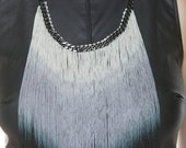 Ombre Fringe Necklace - burning man - festival -jewelry - accessory