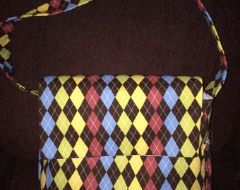 Gorgeous Personalized Messenger Diaper Bag in Renditions Argyle