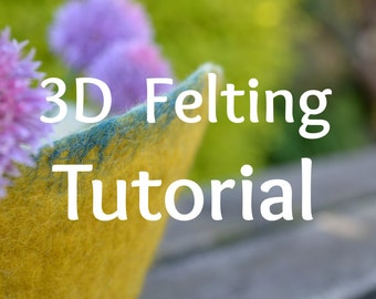 How to Make 3D Felt Vessels. Wet Felting. Step-by-step visual tutorial. 120 page PDF. Instant Download.