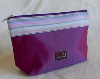 Della Q Large Silk Zip Pouch in A Variety of Colors 1103-1