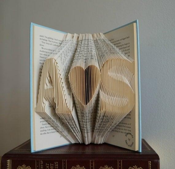 Wedding Gift Art : Folded book art-Personalized Wedding Gift- book art-book origami-free ...