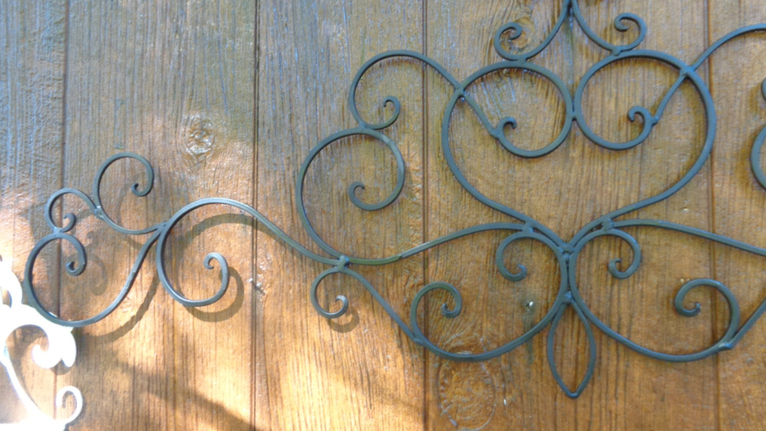 Wrought Iron French Chic Scrolled Flat Black Wall Decor Faux