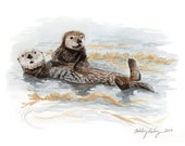 Sea Otter Painting
