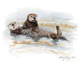 Sea Otter Print
