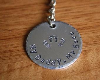 My Daddy, My hero key ring...