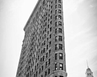 Flatiron building print, Flatiron canvas, black and white flatiron, NYC photo, NYC print, NYC canvas, oversized art, Manhattan print