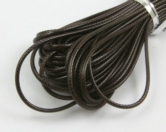 10 Yards 1.5mm Dark Brown Wax Cord Korea Polyester Cord Poly Bracelet Thread Cord (LAXIAN41)