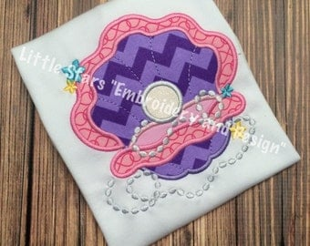 Oyster with Pearl - Appliqued and Personalized