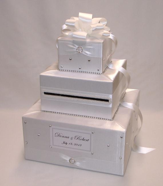 Elegant Wedding Gift Card Box : Elegant Custom Made Wedding Card Box by ExoticWeddingBoxes on Etsy