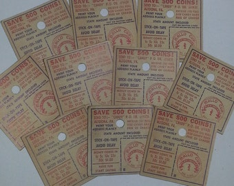 01 Vintage paper ephemera 10 Mallo cup candy savings coupons advertising altered art scrapbook supplies lot