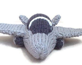 Made to order: Hand knit F/A-18 Hornet Jet Toy Model