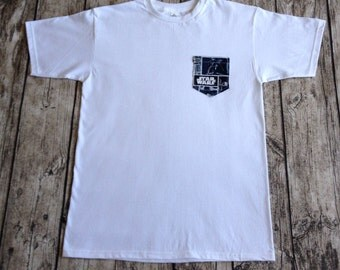 FREE SHIPPING Kids Dark Star Wars Pocket T-Shirt
