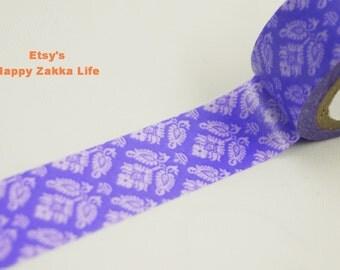 Japanese Washi Masking Tape - Purple Wallpaper - 5.5 Yards