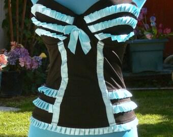 black boned  corset  size bust 36c