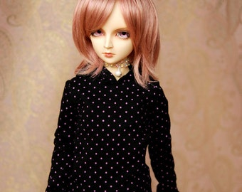 SD Black And Pink Polka Dot Hoodie For BJD