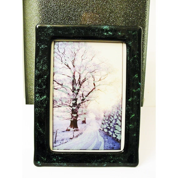dichroic fused glass picture frame dichroic glass powder black