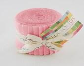 Moda Bella Solids Pink 2.5 Inch Strips Junior Jelly Roll
