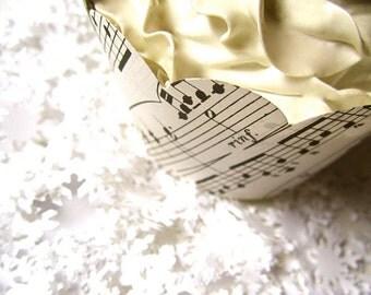 Cupake Wraps, Vintage Music Cupcake Wraps, Music Wedding, Winter Wonderland, Snow, Winter Wedding, Holiday Display, Snowy Winter Display