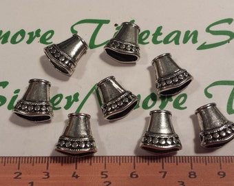 10 pcs per pack of 16x11mm Flat Oval Cone Antique Silver Lead Free Pewter
