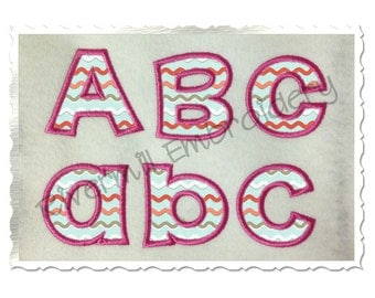 Small 2 Inch Happy Applique Machine Embroidery Font Monogram Alphabet
