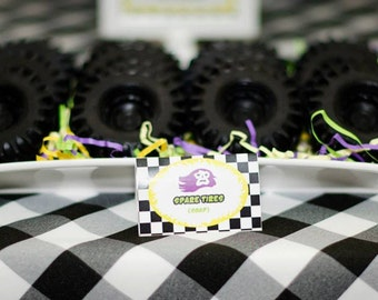 10 TIRE SOAPS {Favors} - Monster Truck Birthday, Tractor or Farm Equipment Party, Cars, Transportation Birthday, Handmade Soaps, Dirt