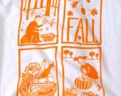 Flour Sack Dish Towel - Fall: Squash