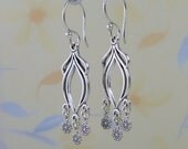 Novel sterling silver earrings.