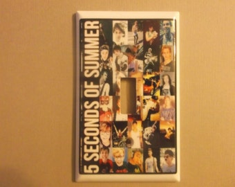 5 seconds of summer light switch cover plate for bedroom for 5sos room decor ideas
