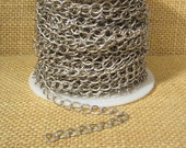 Medium Curb Chain - Antique Silver - CH47 - Choose Your Length