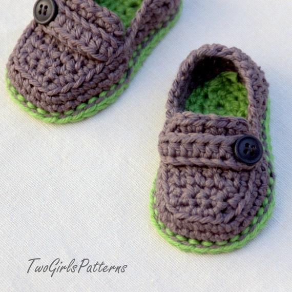 Vistoso Patrón De Crochet Libre Para Mocasines De Bebé Componente ...