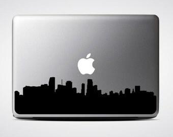 Miami Skyline Macbook Decal #1 / Macbook Sticker / Laptop Decal