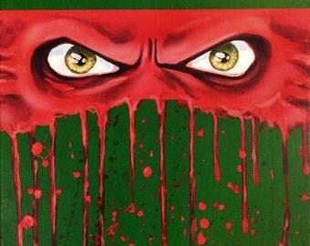 "Ninja Turtles - RAPHAEL - Art Print Reproduction 10"" x 12"" - signed by Artist / TMNT"