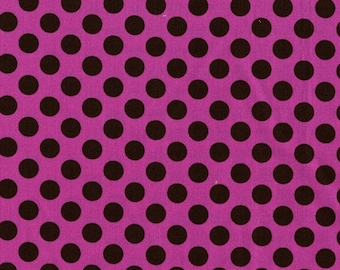 SALE...TA DOT brown dots on orchid pink by the 1/2 yard Michael Miller fabric-Sale