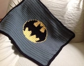 Handmade Crochet Batman baby Boy stroller Blanket PATTERN in PDF file.