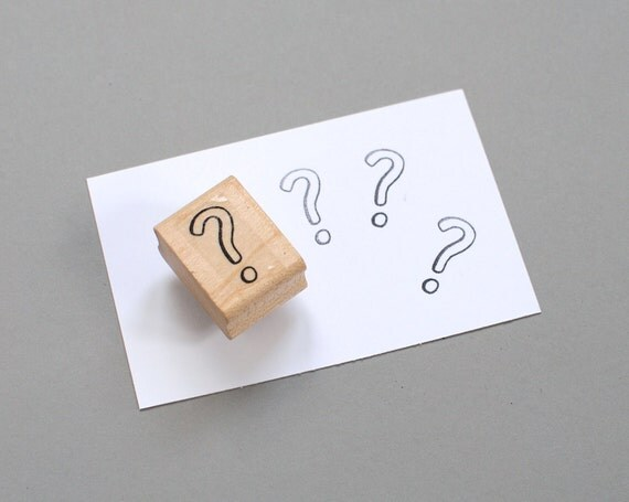 Rubber Stamp // Question Mark 0.5x1