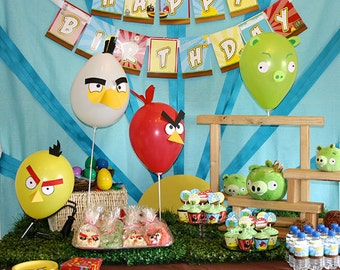 Angry Birds Birthday Party Personalized Complete Package- Printable DIY PDF only