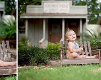Newborn Photo Prop Antique Brown Simple Style Bench