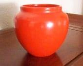 SENSATIONAL Weller Chengtu Pottery 1920's Vase Bowl Brilliant Red Orange Asian Decor Collectible Pottery