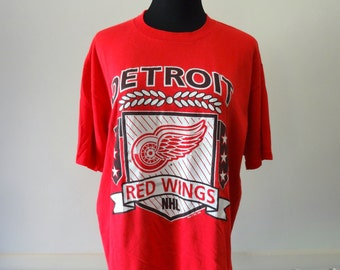 Vintage Detroit Red Wings Hockey T-Shirt 1990