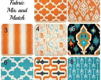 Orange Blue Pillow Covers Pillows Premier Prints Mandarin Morrocan Trellis Ikat Embrace Arrow Sale