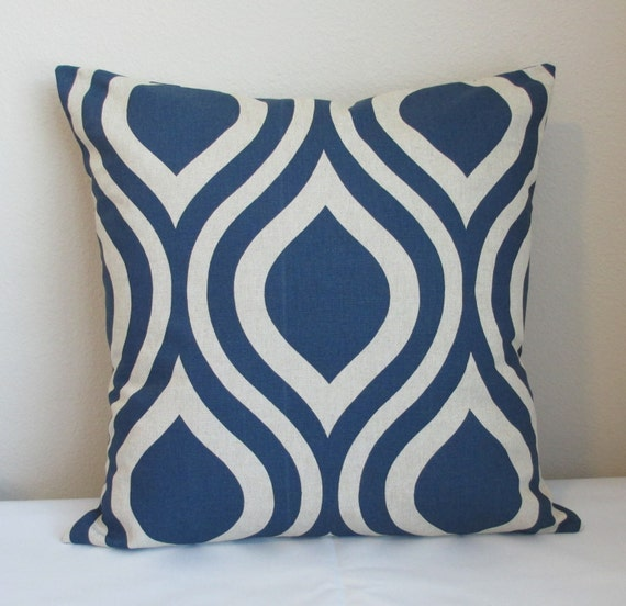 Decorative Throw Pillow Cover Premier Prints Emily Indigo Laken, Throw Pillows, Accent Pillow Covers, Toss Pillow