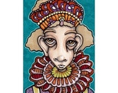 ACEO original drawing Franny the Fairy Jester