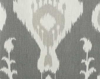 "Two  96""L x 50""W Custom  LINED  Drapes  - Rod Pocket Panels -  Java Ikat Design"