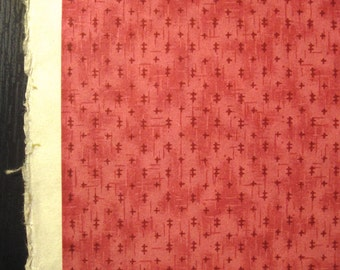 Vintage Japanese Yuzen Chiyogami Paper - Silk Screened Rosy Pink w/ Small Pattern.