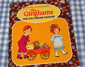 the ginghams - the ice cream parade, vintage 1976 children's book
