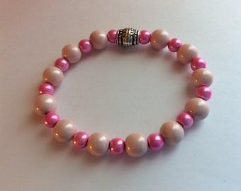 Pink Magnetic Stretch Bracelet