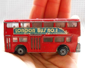 Red London Bus Metal Vintage Retro Souvenir Model English
