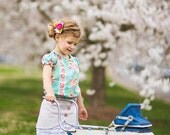 Vivienne Skirt and Blouse PDF Pattern & Tutorial SET, {Ruffle Skirt Style} All sizes 2T-10 years included.