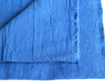 cotton double gauze fabric. japanese pure cotton fabric. soft like a cloud. 102cm (40inch) wide. sold by 100cm (39inch) long. royal blue